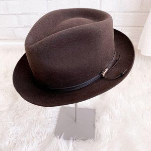 Stetson Brown Fedora Casual Wool Hat Arrow Large